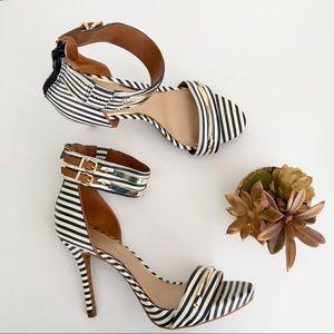 Gianni Bini leather striped stiletto heels size 8